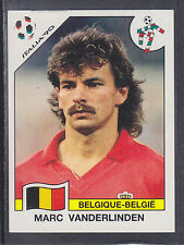 Panini - Italia 90 World Cup - # 342 Marc Vanderlinden- Belgique