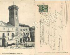 Cartolina di Nizza Monferrato, municipio - Asti