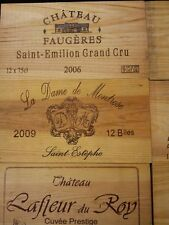 PACK OF 10 WOODEN WINE BOX CASE CRATE END PANELS WALL PLAQUE MINI HOME PUB BAR @