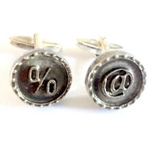 CUFFLINKS Pewter % and @ Computer Geek IT Party Christmas Present GIFT Box