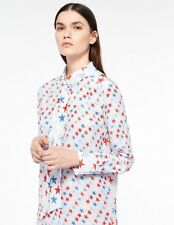 Sandro Star Print Silk Shirt Blouse Latest Collection 2017 NEW! RRP £280 Size 1
