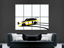 AUDI QUATTRO RALLY CAR CLASSIC SKIDS  ART WALL LARGE IMAGE GIANT POSTER !!