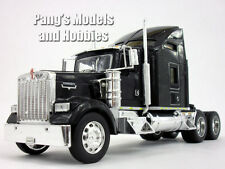 Kenworth W900 Black Extended Cab Truck Diecast Metal 1/32 Scale Model