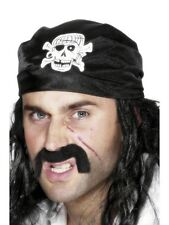 Pirate Bandana Costume Headscarf Black Skull & Cross Bones Head Scarf Bandanna