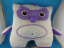 "White & Purple Owl Plush 10"" Inkoos Draw on with Washable Markers (Not Included)"