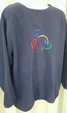 Disney Store Fleece Sweatshirt Men's Size XXL Blue Mickey Mouse USA Seller