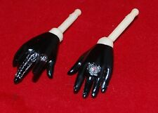"Female Hands for BBI CG CY Girl 1/6 scale 12"" Action Figure. Goth Gloves"