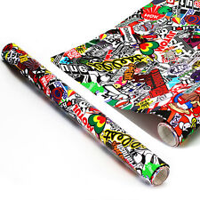 "60"" x 20""  Panda CARTOON GRAFFITI Car Sticker BOMB WRAP SHEET DECAL STICKER"