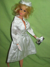 VINTAGE Barbie 1964 PAK Satin #1607 WHITE MAGIC Coat Hat Purse Gloves OUTFIT