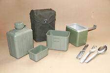 MESS TIN YUGOSLAVIAN ARMY CAMPING COOK SET FLASK CUTLERY SET CASE FISHING SCOUT