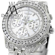 Mens Breitling Watch A44355 White Dial15Ct Natural Diamond