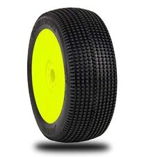AKA Double Down 1/8 Buggy Mounted Tires (Yellow)(Super Soft) (2) - AKA14019VRY