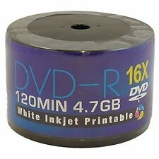 100 x AONE DVD-R White Inkjet Printable 4.7GB (16x) 120MIN ( Shrink Wrap)