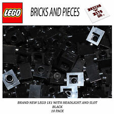 LEGO 4070 1X1 HEADLIGHT BRICK BLACK 10 PACK, STAR WARS, CREATOR, CITY, HEROES