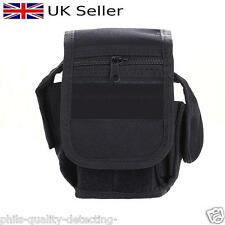 PQDA. Metal Detecting Finds,Multi Pocket,Black / Utility / Belt Pouch,Expandable