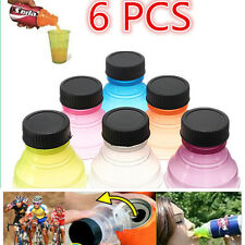 6 Pcs Colorful Tops Reuse Snap Bottle On Pop Soda Can Bottle Drink Lid Caps