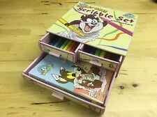 Baby Looney Tunes Scribble Set W/ Markers & 4 Coloring Books Markers in Package