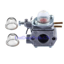 Carburetor & 2 primer bulb for 753-06190 MTD Weedeater Troy Bilt Ryobi Craftsman