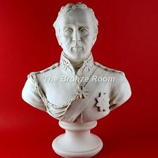 MARBLE BUST SCULPTURE - DUKE OF WELLINGTON - MADE IN THE UK