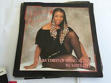 """Patrice Rushen,- I Was Tired Of Being Alone -  Vinyl, 7"""" K 13184 - 1982 MINT/VG"""