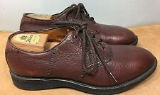 ALDEN 598 Full Grain Leather Saddle Balmoral Oxford Dress Shoes 11 E Made In USA