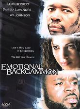 EMOTIONAL BACKGAMMON (DVD,2004,WS)~LEON HERBERT~DANIELA LAVENDER~WIL JOHNSON