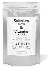 Selenium HIGH STRENGTH 200mcg  120 TABLETS  Immune Support