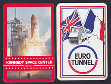 Kennedy Space Center,Euro Tunnel Swap/Playing 2 Single playing Cards