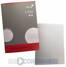 Silvine Treble Cash Book Keeping Accounts Pad. A4. 32 Page. Feint Ruled. Red.