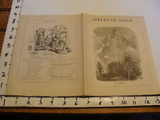 Original 1883 APPLES OF GOLD: VOL. XII # 29 : A NEEDLE (Switzerland)