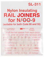 PECO SL-311 12 x Insulated Track Joiners 'N' & 009 Gauge code 80 & 55 New Pack