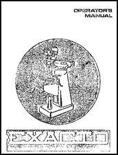 Exacto Turret Milling Machine Manual