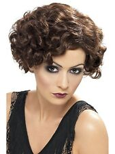 Smiffys 1920s Flirty Flapper Brown Wig Gangster 20s brunette