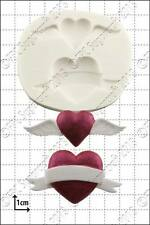 Silicone mould Valentine Hearts | Food Use FPC Sugarcraft FREE UK shipping!