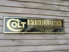 EARLY STYLE COLT FIREARMS DEALER SIGN/AD 1'X46'' ALUM. PANEL W/COLT LOGO
