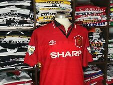 MANCHESTER UNITED home 1994-96 shirt - CANTONA # 7 - France-Leeds-Umbro-Jersey