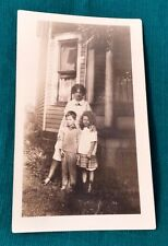 Vintage Photograph; Black and White; 1940s?; Mom with Children by House; Ohio?