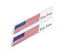 2X Metal United States USA National Flag Decal Emblem Badge Sticker For HOND