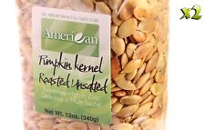 24oz Gourmet Style Bags of Delicious Roasted UnSalted Pumpkin Seeds [1 1/2 lb]