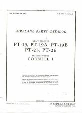 FAIRCHILD PT-19 23 26 PARTS MANUAL 1940's HISTORIC US RAF RCAF WW2 WWII Cornell