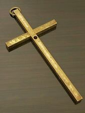 Vintage Large Solid Brass Cross Pendant - Monk Friar Priest Belt Cross
