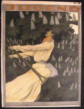 Jugend 1902 Art Nouveau jugendstil antique magazine issue 23 Fohring Rieth Hagen