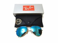 Ray-Ban Sunglasses RB3025 112/17 58-14 Aviator Blue Flash Lenses