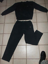 Vintage NIKE Black Sweat Shirt & Pants Warm USA Made Classic Rare Work Out  sz L