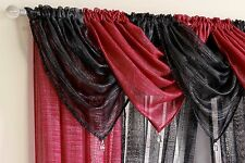 GLITTER READY MADE VOILE SWAG SWAGS NET CURTAIN DECORATIVE PELMET VALANCE DRAPES