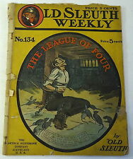 1911 Old Sleuth Weekly No. 134 - The League Of Four ~ Rats And Bondage Cover