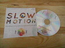 CD Indie Phox - Slow Motion (1 Song) Promo PARTISAN / KNITTING FACTORY cb