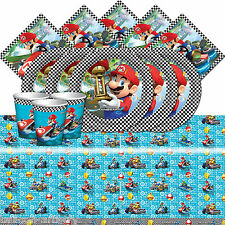 Super Mario Kart Children's Birthday Party Tableware Pack Kit Set For 16