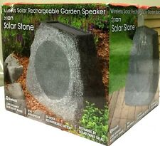 ION Solar Stone Wireless Bluetooth Rechargeable Garden Speaker Outdoor New other