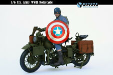 ZY TOYS 1/6 WWII U S ARMY MOTORCYCLE FOR HOT TOYS CAPTAIN AMERICA NEW